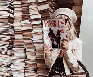 book, girl, and magazine image
