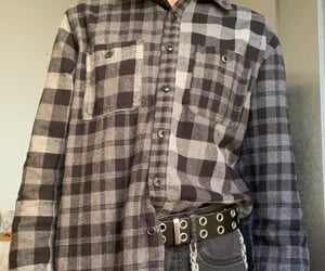aesthetic, flannel, and belt image