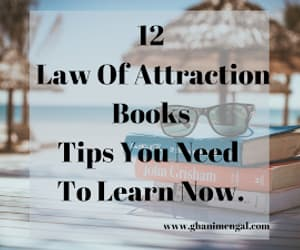 books, law of attraction, and self help image