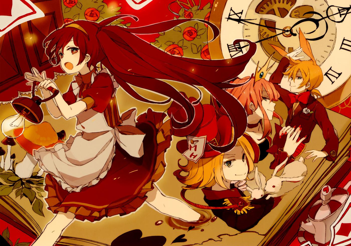 alice alice in wonderland cosplay dress fixed hatsune miku kagamine
