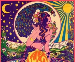 art, psychedelic, and hippie image