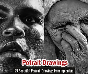 art, pencil drawings, and portrait art image