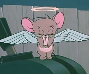 cartoon, angel, and tom and jerry image