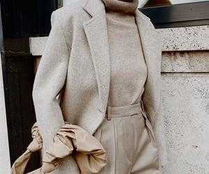 bag, beige, and blazer image