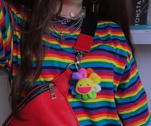 aesthetic, rainbow, and outfit image