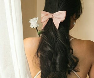 black hair, cabelo, and flowers image