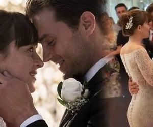 love, wedding, and christian grey image