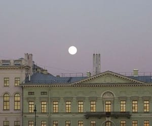 moon, aesthetic, and building image