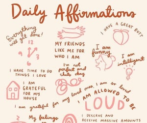happiness, self love, and affirmations image