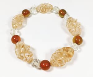 crystal beads, fashion, and gold image