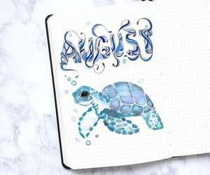 art, blue, and writing image