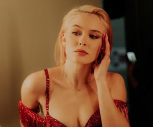 beauty, red, and zara larsson image