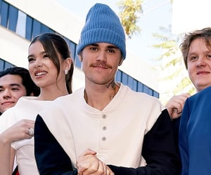 justin, justin bieber, and mustache image