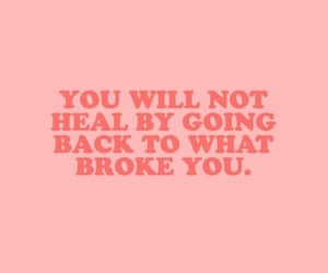 quotes, heal, and pink image