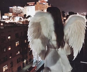 angel, girl, and white image