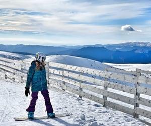 Burton, snowboard, and snowboarder image
