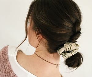 hairstyle, updo, and bun hair image