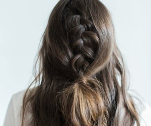 braid, hairstyle, and wavy image