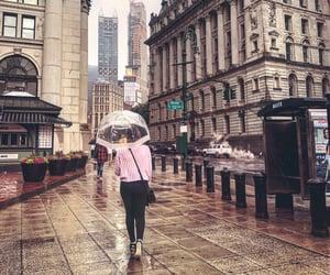 law & order, new york, and rain image