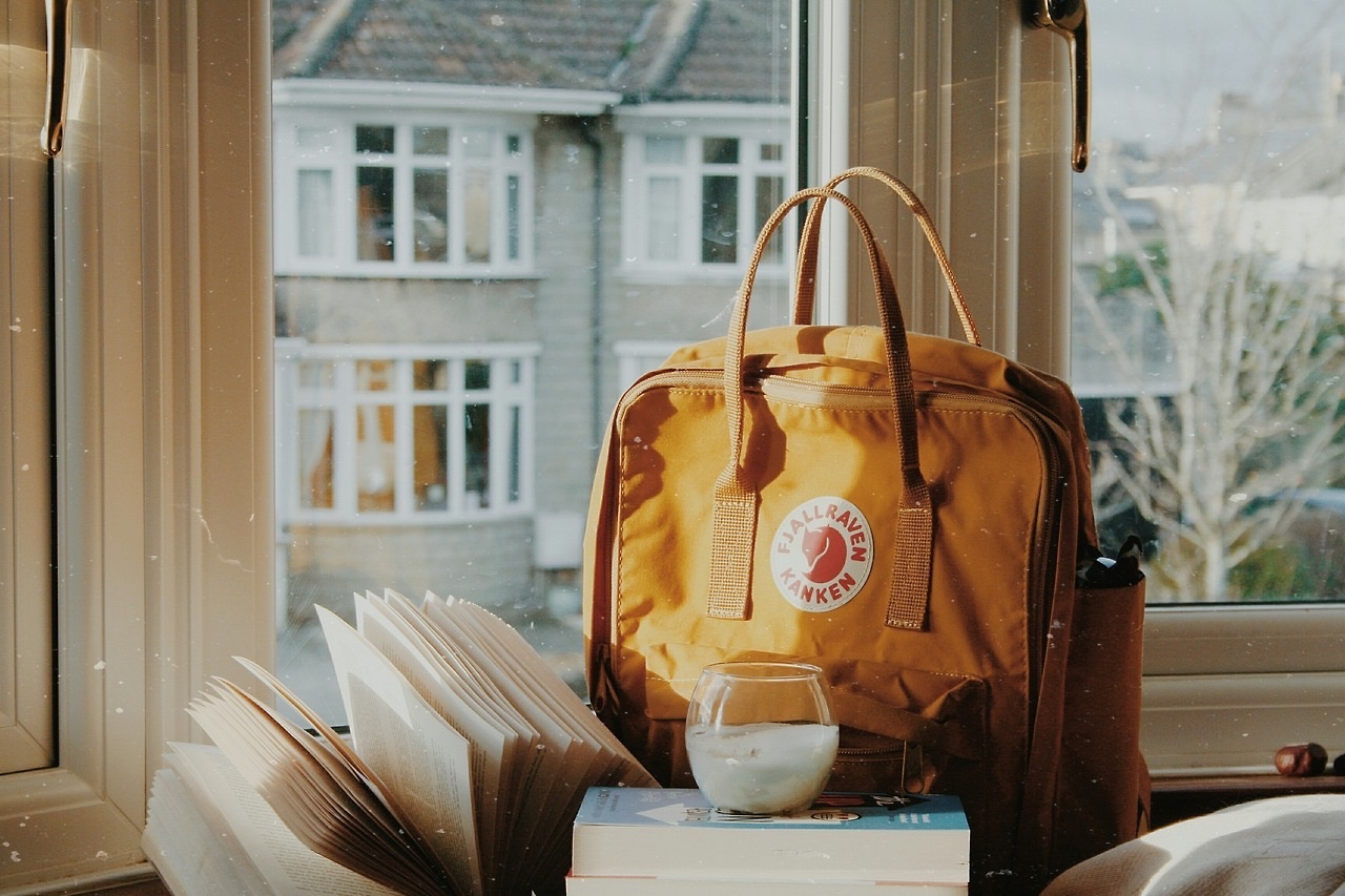 book, aesthetic, and backpack image