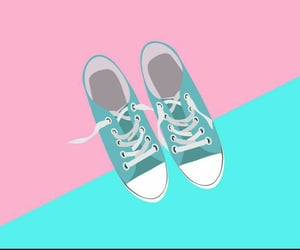 art, mint green, and pastel image