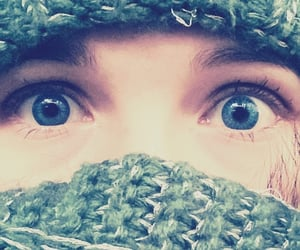 Augen, winter, and blue eyes image