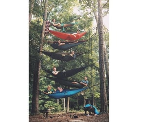 camp, hammock, and goals image