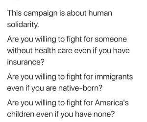 equality, immigration, and bernie sanders image