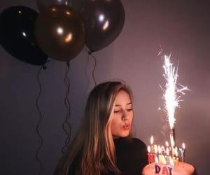 girl, birthday, and cake image
