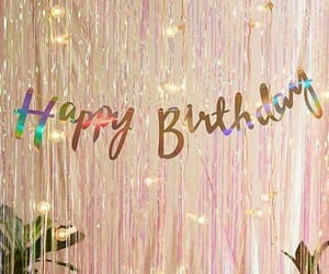 glitter, happy birthday, and party image