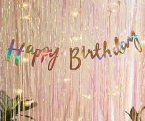 birthday, glitter, and happy birthday image