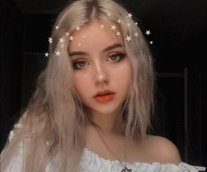 girl, aesthetic, and stars image