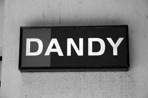 black and white, dandy, and sign image