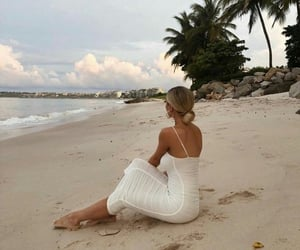 beach, style, and dress image