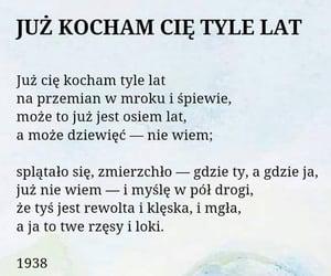 miłość, wiersz, and gałczyński image