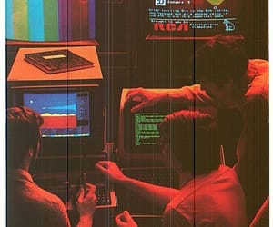 retro, 80s, and neon image