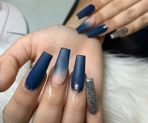 blue, ombre, and glitter image