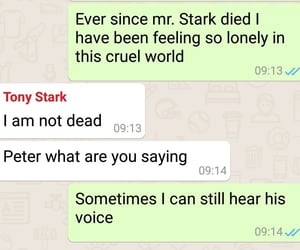 Avengers, whatsapp, and peterparker image