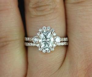 wedding, diamond, and emerald image