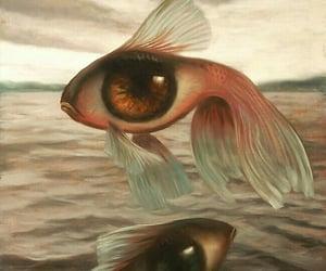 fish, art, and eye image