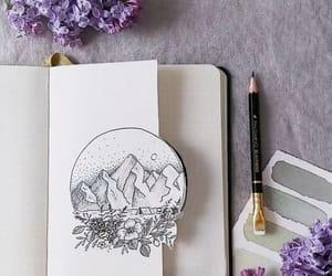 art, purple, and writing image