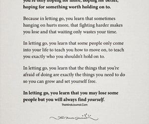 letting go, i need to let go, and sad quotes image
