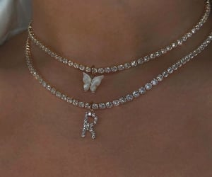 necklace, jewelry, and butterfly image
