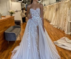 dress, long, and strass image