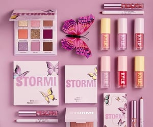 beauty, butterfly, and lipgloss image