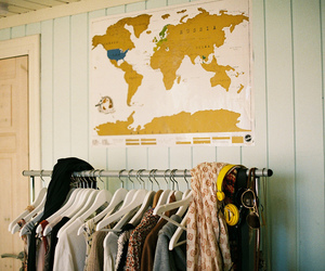 vintage, clothes, and map image