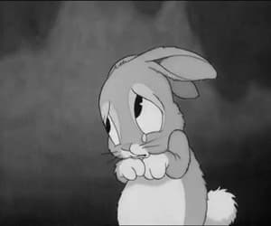 bunnie, crying, and saddness image