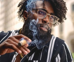 beard, cigar, and fashion image