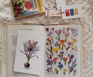 flowers, painting, and vintage image