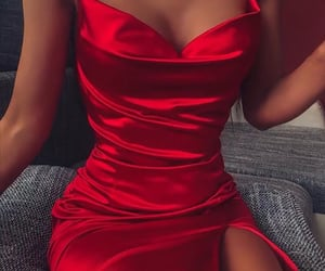 fancy, sexy, and red dress image